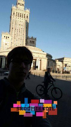 Rowerem przez świat.  Pałac Kultury i Nauki