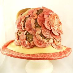 Antique Late Edwardian Summer Hat Almost 1920 Silk by Revvie1, $168.00