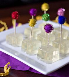 Make Champagne Jello Shots for your NYE party for everyone to indulge in some boozy little treats with this recipe.