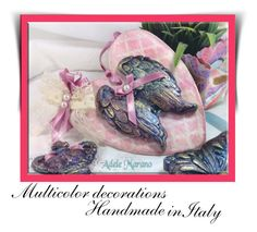 """Decorations handmade and handpainted by Adele Marano - Italy"" by dragonflyadele on Polyvore featuring moda"