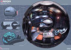 Orpod, Neuromancer artwork by Marcel van Vuuren Design. http://marcelvanvuurendesign.blogspot.com/