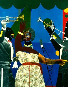 Romare Bearden. Showtime. ~Repinned Via Zabu Stewart