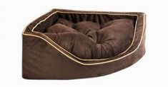 luxury corner dog bed brown