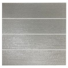 EPOCH Architectural Surfaces 4-Pack Grain Textured Gray Glass Indoor/Outdoor Wall Tile (Common: 3-in x 12-in; Actual: 2.99-in x 11.81-in)
