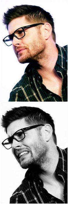 Jensen at Asylum2015, wearing Jeffrey Dean Morgan's glasses