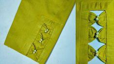 Beautiful Bow Design Trouser || urdu🔥 Neck Designs For Suits, Sleeves Designs For Dresses, Neckline Designs, Dress Neck Designs, Fancy Blouse Designs, Sleeve Designs, Kurti Sleeves Design, Kurta Neck Design, Churidar Neck Designs