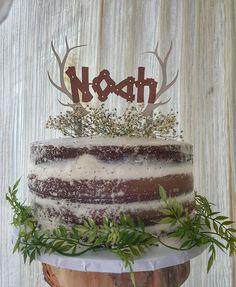 Woodland Baby Shower Antler Cake Topper Woodland Cake Topper Antler Cake Topper Woods Made By @VanessaPeace | Etsy: HouseOfPeace