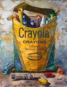 """""""Brilliant Colors"""" - Gordon Smedt {contemporary artist crayola crayons pop art…"""