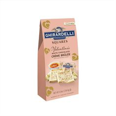 This year, you can up your chocolate game with the return of Ghirardelli's Valentine's Day white chocolate crème brûlée squares. White Chocolate Creme Brulee, Mint Chocolate, Chocolate Lovers, Chocolate Chips, Ghirardelli Chocolate Squares, Disney Gift Card, Sour Patch Kids, Valentine Chocolate, Happy Valentines Day