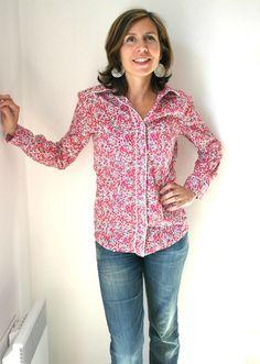 La chemise en Liberty (mais est-ce vraiment autorisé ???) - Chut Charlotte !