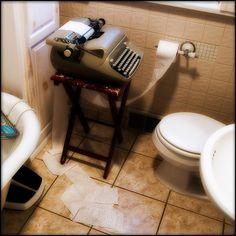 Derouleur de papier toilette