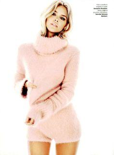 Ermanno Scervino, #ErmannoScervino F/W 2014-15 angora sweater and culottes in Glamour Italia November Issue #ScervinoEditorials.