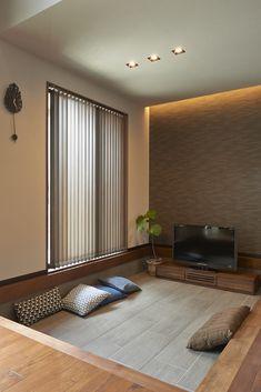 future home interior Japanese Home Design, Japanese Style House, Japanese Interior, Japanese Living Rooms, Zen House, Sunken Living Room, Home Design Living Room, Bedroom Floor Plans, House And Home Magazine