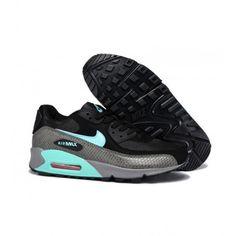 finest selection efcd1 e68da Best Air Max 90 Nike Womens Shoe Black Blue 0174