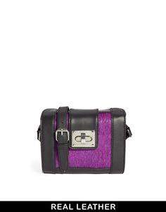 Image 1 ofASOS Barrel Cross Body Bag With Leather Pony