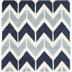 Buy the Safavieh Dark Blue / Light Blue Direct. Shop for the Safavieh Dark Blue / Light Blue Chatham x Rectangle Wool Hand Tufted Geometric Area Rug and save. Light Blue Area Rug, White Area Rug, Blue Area Rugs, Blue Rugs, Square, Modern Colors, Wool Area Rugs, Wool Rugs, Blue Abstract