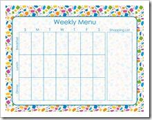 61 best printable menu planners images calendar free printables