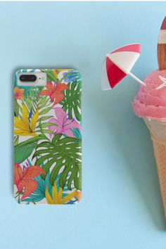 Are you also counting the remaining days until summer? 🌴 🍦 ☀️ Phone case for iPhone or Samsung. Tropical Flowers, Tropical Plants, Days Until Summer, Phone Covers, Counting, Iphone Cases, Samsung, Mobile Covers, Iphone Case