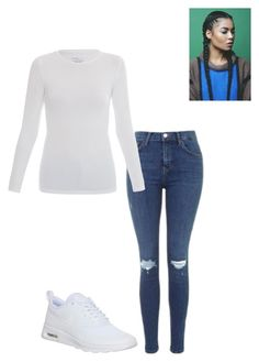 """""""Untitled #54"""" by yasminabuwi on Polyvore featuring Topshop, Majestic and NIKE"""