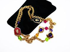 New Listings Daily - Follow Us for UpDates -  Description or Style:   Jewel Tone Crests & Beads Chain Necklace - Bejeweled Hearts - Smooth Flatback Cabs and Beads - Pink, Purple, Green, Black and Bronze 1990's offered ... #vintage #jewelry #teamlove #etsyretwt #ecochic #thejewelseeker ➡️ http://etsy.me/2jB7EBQ