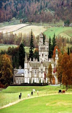 Balmoral Castle, Royal Deeside, Aberdeenshire, Scotland - summer residence of Queen Elizabeth II. Saw Charles & Camilla with friends on grounds. Elizabeth Ii, Beautiful Castles, Beautiful Places, The Places Youll Go, Places To See, Scottish Castles, England And Scotland, Places To Travel, Countryside