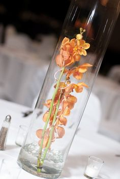 Orange Flowers Table Center Piece