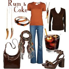 Rum & Coke, created by kitkat137 on Polyvore