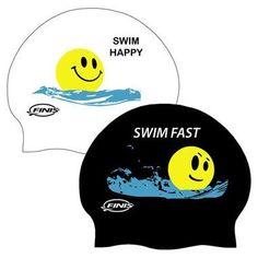 FINIS Reversible SWIM HAPPY / SWIM FAST Silicone Swim Cap