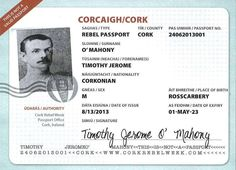 TJ O'Mahony aka The Rosscarbery Steam Engine awarded posthumous Rebel Passport Date Of Expiry, Steam Engine, Passport, Rebel, Engineering, Dating, Author, Events, News