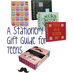 A funky stationery gift guide for teens