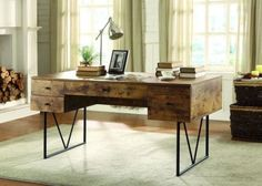 Farmhouse Office Desk Ideas 22 Furniture Office, Home Office Desks, Home Furniture, Furniture Outlet, Online Furniture, Furniture Deals, Cheap Furniture, Luxury Furniture, Wooden Furniture