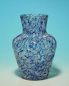 Loetz Crystal Glass Vase with Onlay circa 1930