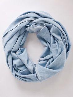 Denim scarf