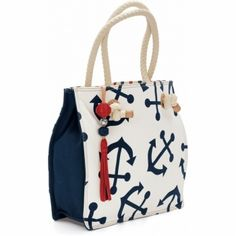 I saw this when I was at the mall tonight and almost died. LOVE this anchor bag. Starboard Large Tote  available at #Brighton