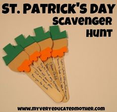 www.myveryeducatedmother.com St. Patrick's Day Scavenger Hunt