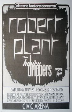 Robert Plant and the Honey Drippers at the Civic by Innerwallz, $15.00