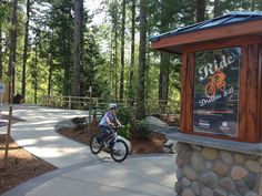 Celebrate National Bike Month at Duthie Hill Bike Park---an all-ages, all-skill-level bike park that's like Disneyland, for mountain bikers.
