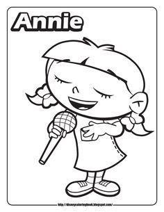 Come Join The Fun And Color These Printable Coloring Sheets Of Kids From Disney Junior S Little Einsteins Leo Annie Quincy A
