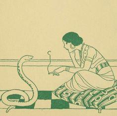 "clawmarks: ""The rubáiyát of a bachelor - illustrated by Harold Speakman - 1915 - via Internet Archive "" Fuchs Illustration, Image Swag, Illustrations, Poster Prints, Art Prints, Posters, Grafik Design, Art Plastique, Aesthetic Art"