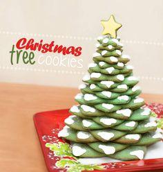 Christmas tree cookies #christmas #tree #cookies
