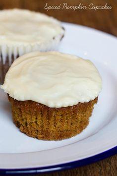 Spiced Pumpkin Cupcakes Recipe #baking #recipe #cake