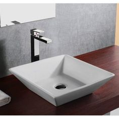 Compatible with most wall-mount or countertop-mount vessel filler faucets. Aside from being functional, this sink is also an elegant looking and great a conversational piece.