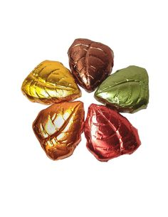 Chocolates molded into the shape of leaves then wrapped in fall colors. These are great to keep around the house for guests, or sneak a couple for yourself every once in a while when you past by. Offered in 6oz bags for $6.99