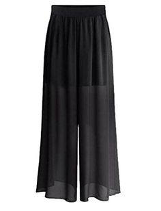 Orient Mystic Womens Plus Size Loose Fashion Long Solid PALAZZO PANTS Black 5X Plus * Details can be found by clicking on the image.