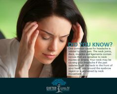 Headache caused by neck pain may not always be relieved by medication. A physiotherapist can help decrease tension in your muscles and strengthen the neck and shoulders. Learn more about physical therapy and rehabilitation for neck pain: http://www.exetermedicalcenter.com/physical-therapy-and-rehabilitation/