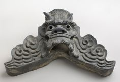 Roof Tile Oni-gawara (鬼瓦) Artist/maker unknown, Japanese Made in Japan, Edo Period (1615-1868) 19th century Earthenware Philadelphia Museum of Art