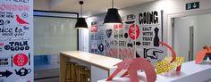 Digitally printed wallpaper - Interior wall graphics for travel company