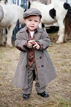 A dapper little man from Ballinasloe, County Galway, Ireland. Ballinasloe Horse Fair is held annually in Ballinasloe, in the western part of Ireland. It is one of Europe's oldest and largest Horse Fairs, dating back to the century. Cool Baby, Baby Kind, Precious Children, Beautiful Children, Little People, Little Boys, Cute Kids, Cute Babies, Enrico Macias