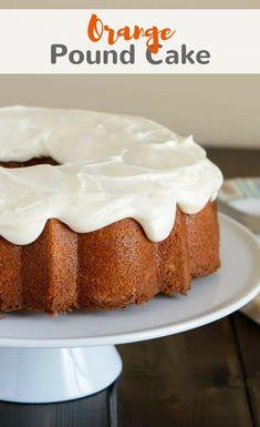 This simply sweet glazed orange pound cake has a perfectly light orange flavor and it's wonderfully moist. #orange #poundcake #cake #dessert #baking