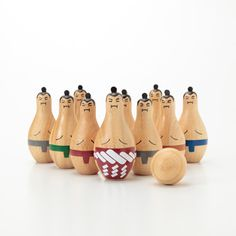 Based on the ever popular wooden skittles, they now come sumo sized. Comes in a set of ten sumo skittles and a wooden ball in a drawstring bag. Suitable for ages 3+. Measurements are 17 x 16 x 7.5cm.